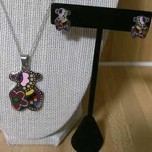 Tous Necklace/Earrings Set